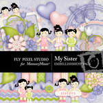 My Sister Embellishment Pack-$2.99 (Fly Pixel Studio)