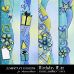 Birthday Blitz Borders Pack-$1.99 (Jumpstart Designs)
