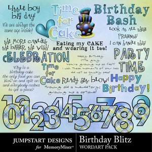 Birthday blitz wordart medium