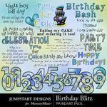 Birthday blitz wordart small