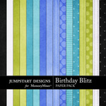 Birthday Blitz Paper Pack-$2.99 (Jumpstart Designs)