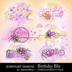 Birthday bliss scatters medium