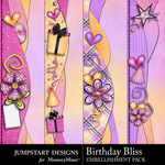 Birthday Bliss Border Pack-$1.99 (Jumpstart Designs)