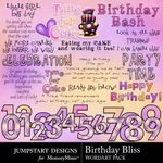 Birthday Bliss WordArt Pack-$2.99 (Jumpstart Designs)