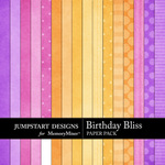 Birthday Bliss Paper Pack-$3.99 (Jumpstart Designs)
