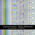 Azure Afternoon Paper Pack-$3.99 (Jumpstart Designs)
