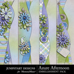 Azure Afternoon Border Pack-$1.99 (Jumpstart Designs)