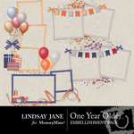 One Year Older Frame Pack-$1.99 (Lindsay Jane)