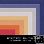One Year Older Embossed Paper Pack-$2.49 (Lindsay Jane)
