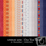One Year Older Paper Pack-$3.49 (Lindsay Jane)