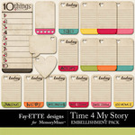 Time 4 My Story Journal Block Pack-$2.49 (Ettes and Company by Fayette)