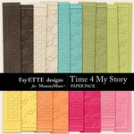 Time 4 My Story Embossed Paper Pack-$3.49 (Ettes and Company by Fayette)