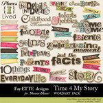 Time 4 My Story WordArt Pack-$2.25 (Ettes and Company by Fayette)