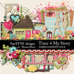 Time 4 My Story Embellishment Pack-$3.49 (Ettes and Company by Fayette)