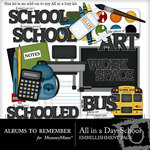 All in a Day School Embellishment Pack-$2.49 (Albums to Remember)