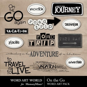 On the go wordart medium