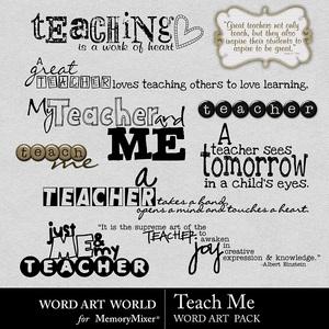 Teach me wordart medium