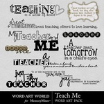 Teach Me WordArt Pack-$2.49 (Word Art World)