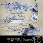 Unforgettable Time Cluster Pack-$1.99 (Indigo Designs)