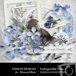 Unforgettable Time Embellishment Pack-$2.99 (Indigo Designs)