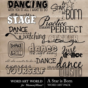 A star is born wordart medium