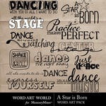 A star is born wordart small