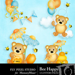 Bee Happy Cluster Pack-$1.99 (Fly Pixel Studio)
