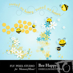 Bee Happy Scatters Pack-$1.20 (Fly Pixel Studio)