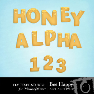 Bee happy honey alpha medium