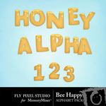 Bee Happy Honey Alphabet Pack-$0.99 (Fly Pixel Studio)