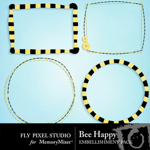 Bee happy frames medium