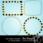 Bee Happy Frame Pack-$1.99 (Fly Pixel Studio)