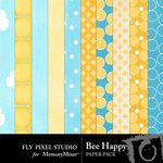 Bee Happy Paper Pack-$3.99 (Fly Pixel Studio)