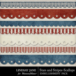 Stars and Stripes Scallop Pack-$1.99 (Lindsay Jane)
