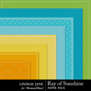 Ray of sunshine embossed pp medium