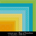 Ray of Sunshine Embossed Paper Pack-$1.50 (Lindsay Jane)