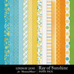 Ray of Sunshine Paper Pack-$3.99 (Lindsay Jane)