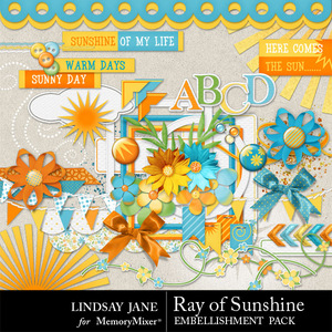 Ray of sunshine emb medium