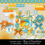 Ray of Sunshine Embellishment Pack-$3.99 (Lindsay Jane)
