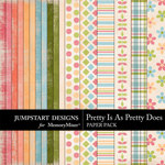 Pretty Is As Pretty Does Paper Pack-$2.99 (Jumpstart Designs)