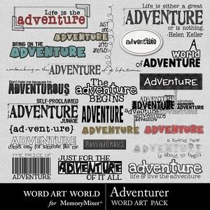 Adventurer wordart medium