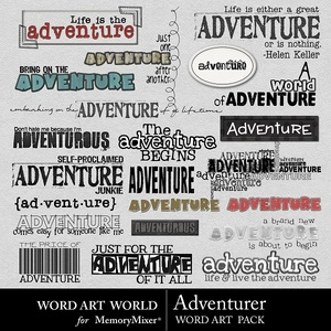 Adventurer wordart medium