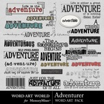 Adventurer WordArt Pack-$1.25 (Word Art World)