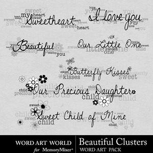 Beautiful clusters wordart medium
