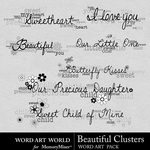 Beautiful Cluster WordArt Pack-$2.49 (Word Art World)