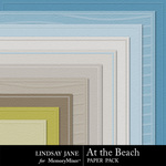 At the Beach Embossed Paper Pack-$1.25 (Lindsay Jane)