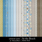 At the Beach Paper Pack-$2.00 (Lindsay Jane)