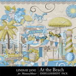 At the Beach Embellishment Pack-$2.00 (Lindsay Jane)