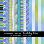 Birthday Blitz Add On Paper Pack-$2.99 (Jumpstart Designs)