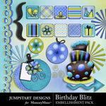Birthday Blitz Add On Embellishment Pack-$3.99 (Jumpstart Designs)